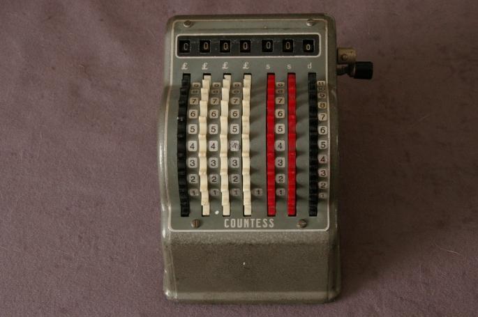 Bowler Countess adding machine